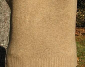 Vintage Cashmere Vest - Camel Vest - Size M vest