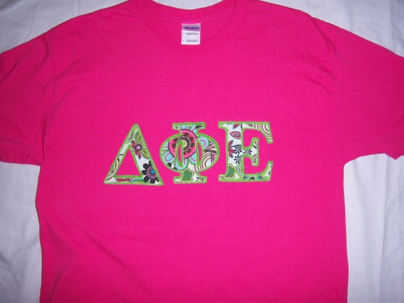 Delta Phi Epsilon Sorority Stitch Shirt Crew By Southernjewelz