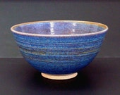 Unique large bowl, blue bowl, handmade, serving bowl, high fired, stoneware