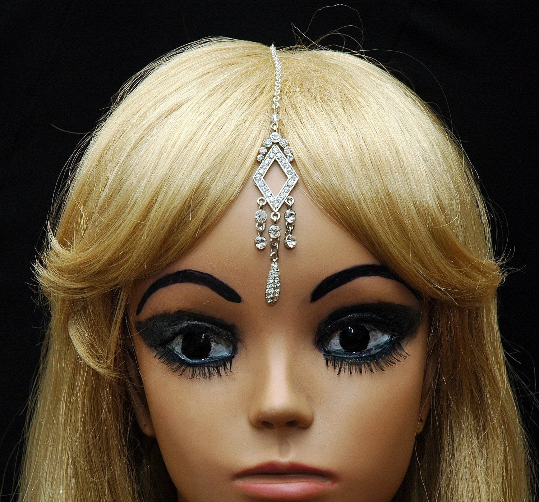 Etsy Chain Headpiece Chain Headpiece Forehead