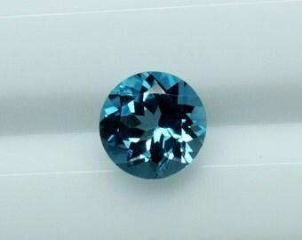 10mm Round London Blue Topaz