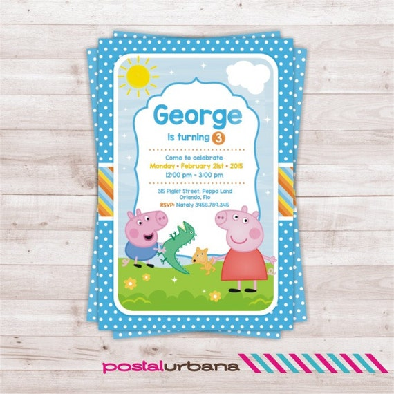 Peppa Pig Invitation for awesome invitation ideas