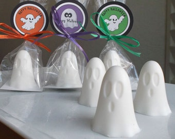 Halloween Favors - Ghost Party Favors, Halloween Party Favors, Halloween Soap Favor, Class Favor, Schoool Favor, Non Candy Treat - Set of 10