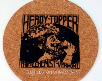 HEADY TOPPER Coasters set of 4 - Unique Coasters - Heady Topper Kitchen Accessories - Eco-Friendly Gift - Vermont beer coasters