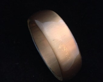 Vintage Gold Moonglow Lucite Bangle Bracelet
