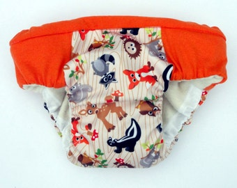 Unisex overnight heavy wetters potty training pants, eco friendly cloth pull ups, waterproof reusable animals PUL print, special needs pants
