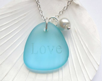 Turquoise Bay Sea Glass Necklace, Sea Glass Jewelry, Beach Glass Jewelry, Beach Glass Necklace, Bridesmaid necklace  FREE US SHIPPING