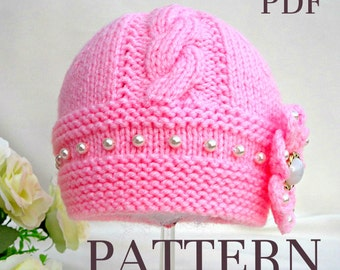 Free Knitting Patterns For Dogs Coat : View Patterns Baby Hat by Solnishko43 on Etsy