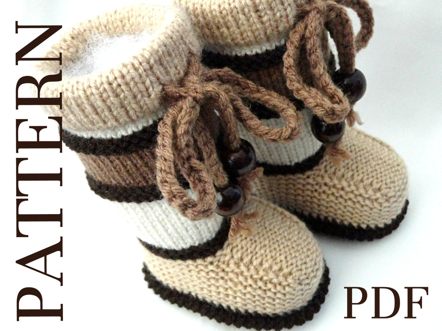 Knitting Patterns For Toddlers Boots : Knitting PATTERN Baby Booties PATTERN Knit Baby Shoes Baby Boy