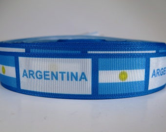 "5 yards of 7/8 inch ""Argentina"" grosgrain ribbon"