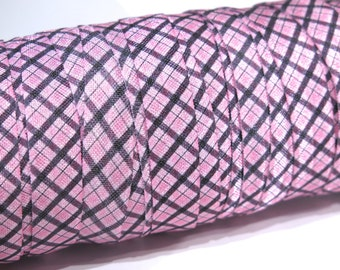 "3 yards of FOE 5/8 inch ""chequered"" fold-over elastic ribbon"
