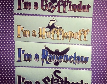 NEW Hogwarts inspired Houses Decals for cars and laptops Fan Art