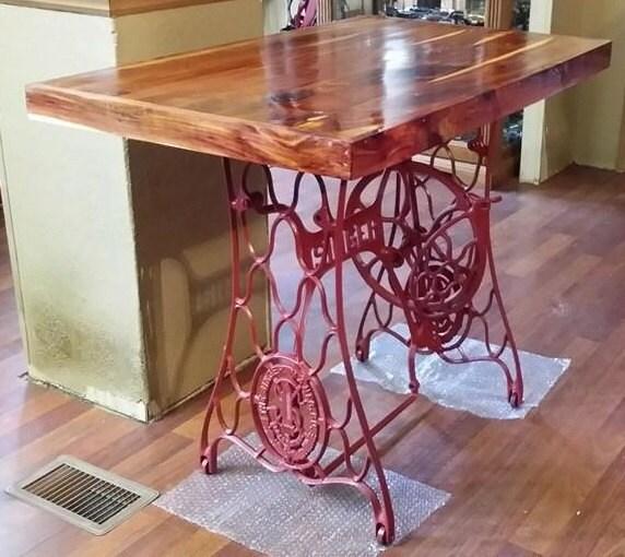 refurbished reclaimed singer sewing table. Black Bedroom Furniture Sets. Home Design Ideas