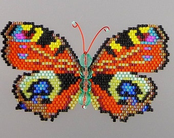 Large Peacock Butterfly PDF Pattern and Tutorial