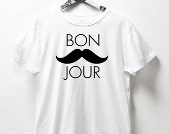 bonjour shirt bonjour sign paris shirts streetstyle bonjour tshirt  women's fashion t shirts tee shirt Muscle Tee