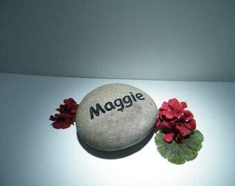Pet Memorial/ Palm Size Memorial Stone/ Cat Memorial Stone/Pet Memorial stone