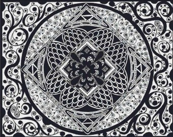 Zentangle PDF Cross Stitch Pattern