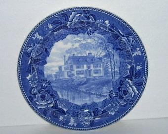 Wedgwood Quincy Homestead Blue Transferware Plate
