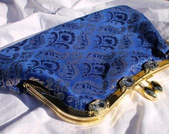 CLEARANCE! Blue gemstone clutch