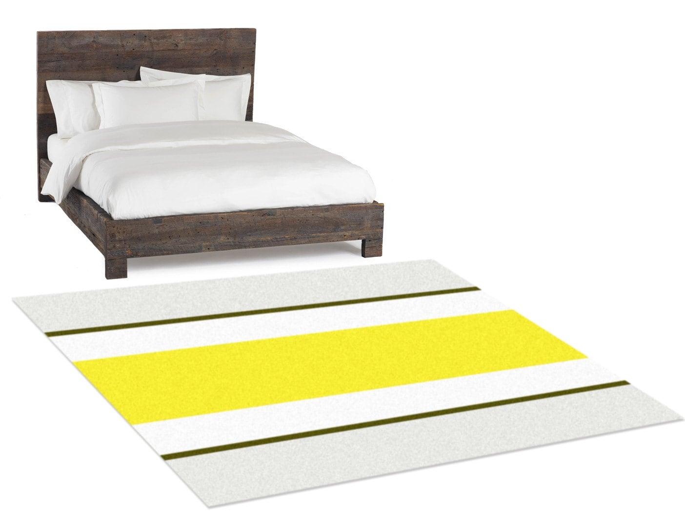Bedside Rug Area Rug Yellow Rug Bedroom Rug By Hawkerpeddler