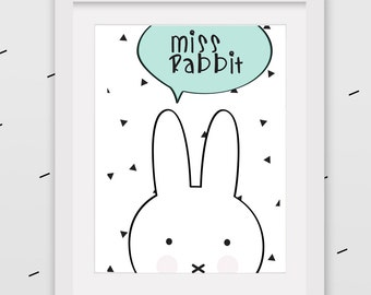 rabbit and cloud on triangles