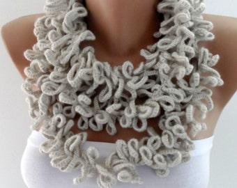 Stone scarf Crochet lariats Bohemian scarf Gypsy Scarf Crochet jewelry fashion scarf Womens scarves Fashion accessories gifts elegancescarf