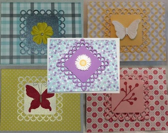 Assorted Lace Greeting Card Set of 5