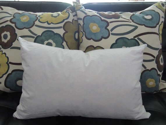 Down Throw Pillow Forms : 14 X 20 Feather/Down Insert Oblong Rectangle Pillow Form