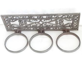 SALE Cast Iron Scarf Rack