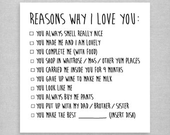 Reasons Y I Love You Quotes : Fine Reasons I Love You Etsy Valentine Love Quotes Grandhistoriesus