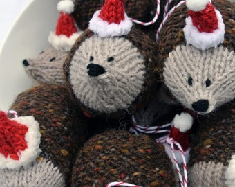Tweedy Hedgehog Christmas Decoration