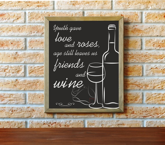 wine art chalkboard art wine lover wine artwork chalkboard