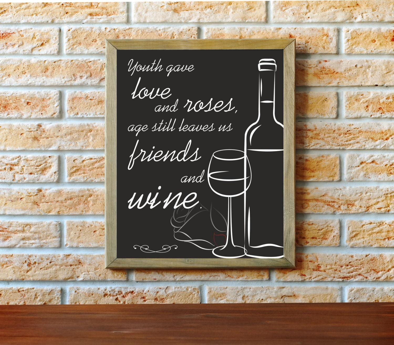 Wine art chalkboard art wine lover wine artwork chalkboard for Wine chalkboard art