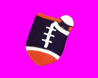 Denver Fan Favorite Baby Girl Football Cocoon & Hat (Newborn to 3 months)