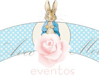 Peter Rabbit Cupcake Wrapper Printable