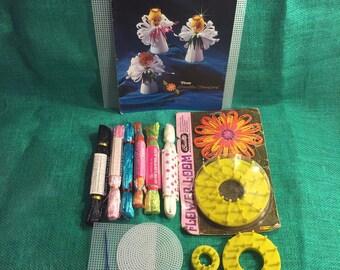 Vintage Flower Loom Kit Swistraw Book supplies