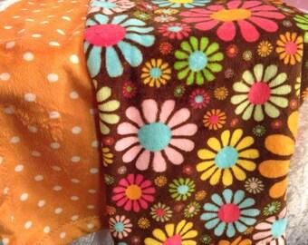 Flower Mink Baby Blanket