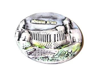 Cave of Patriarchs,ceramic plate,hand painted,Ma'arat HaMachpela