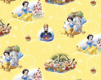IN STOCK, Per Yard, Disney's Snow White and the 7 Dwarfs Fabric