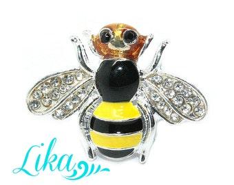 Bee Metal Rhinestones - Rhinestone buttons - Pearl Rhinestone - Rhinestone - Supply - Wholesale Embellishment - 24 mm