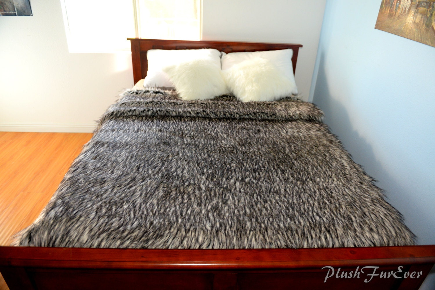 king queen twin bedspread multi gray wolf exotic blanket. Black Bedroom Furniture Sets. Home Design Ideas
