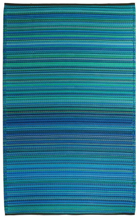 Fab Habitat Indoor Outdoor Rug Cancun Turquoise & by