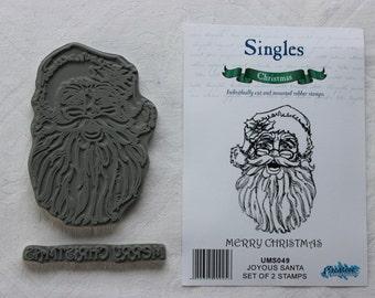 Joyous Santa Rubber Stamps