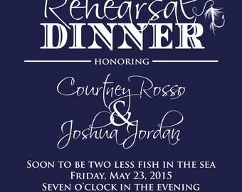 Nautical Rehearsal Dinner Invitation - Fishing Themed Rehearsal Dinner - Printable