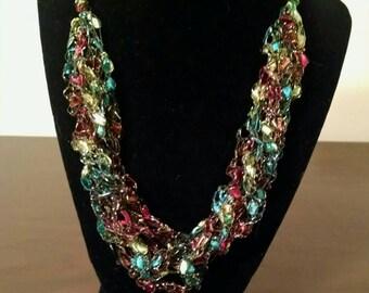 Trellis Necklace / Crochet Necklace Item No. A106