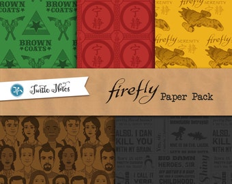 Firefly Paper Pack : 30 Printable Digital Scrapbook Papers