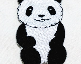 Cutie Panda (4.5 x 7 cm) Full Embroidered Iron on Applique Patch (R)