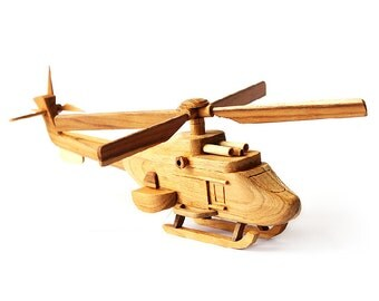 Wooden Toy Helicopter 04 in Handmade