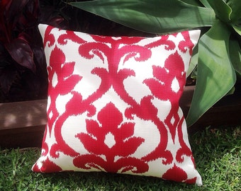 Red U0026 White Outdoor Cushions, Ikat Outdoor Pillows Red Outdoor Decorative  Scatter Cushions Modern Retro