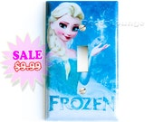 frozen Princess Elsa single light switch wall  cover plates children's girls bedroom living play room corner decoration art home decor